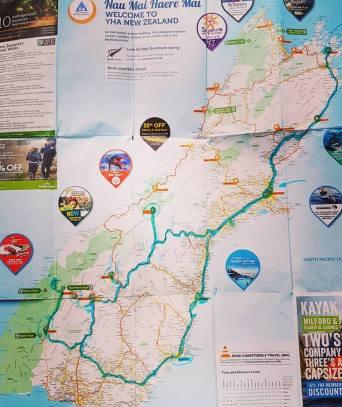 map peta new zealand south island