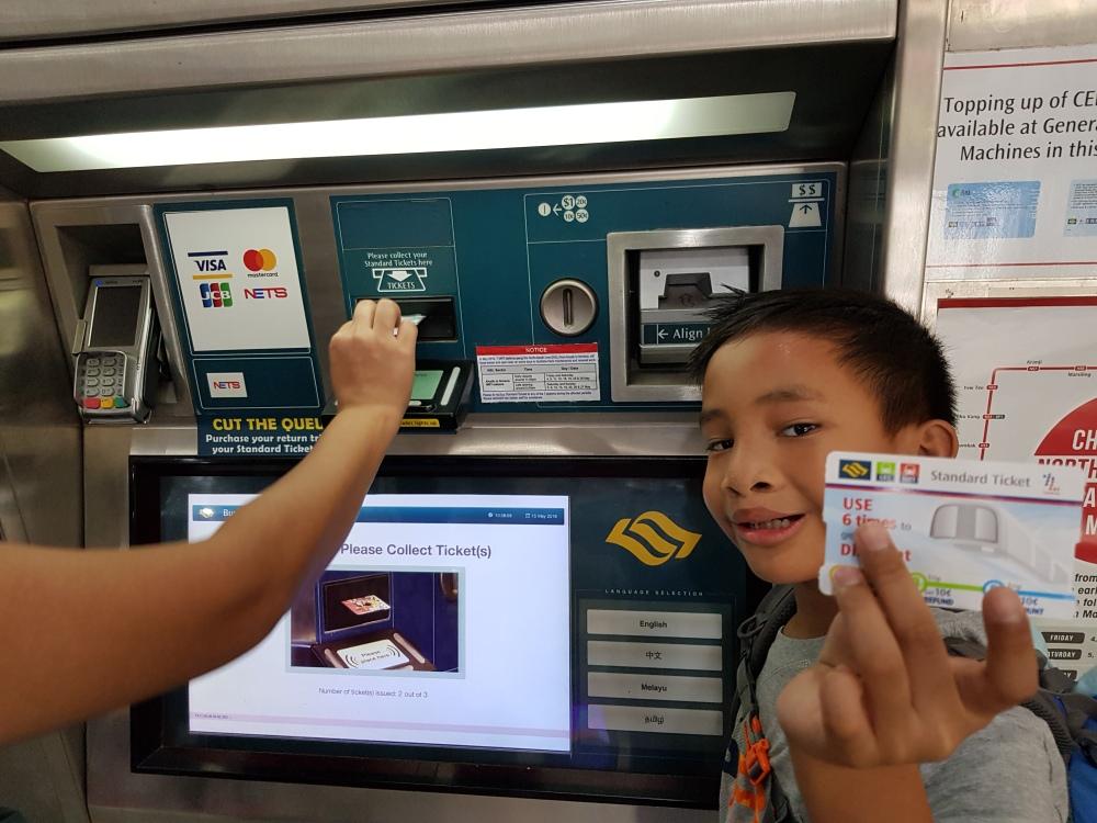 cara beli tiket MRT singapura kallang changi airport janganmenyerah